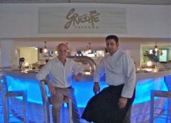 Gastronom Nikos Hatzias (r.), Küchenchef Kostas Yannakis