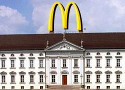 Schloss Bellevue wird McDonald Palast
