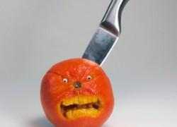 Apfelsinen können wütend werden
