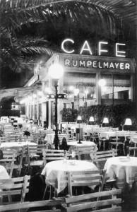 Im Café Rumpelmayer im Fürstenhof an der Gallusanlage trafen sich viele Schauspieler und Theaterkritiker