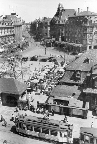 Das Café an der Hauptwache ist heute noch so wiederzuerkennen