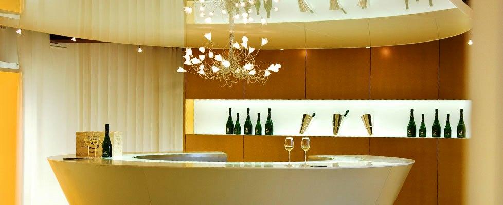 Leider keine Champagner-Bar - der Salon Verkostungsraum
