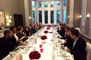 Weinrunde in der Villa Kennedy in Frankfurt