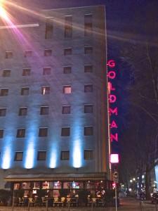 Das Hotel von Goldman an der Hanauer Landstraße in Frankfurt