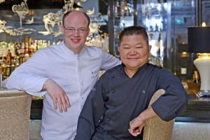 BBH Küchenchef Philipp Ferber und Justin Quek