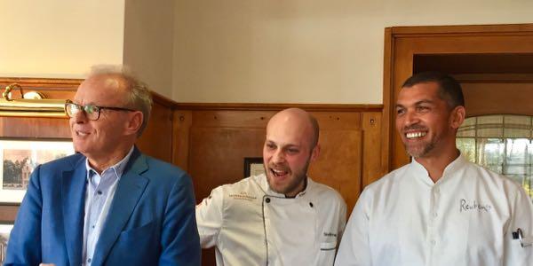 Festival-Gründer HB Ullrich (l.), Kronenschlösschen-Chef Simon Stirnal (M.), Reuben Riffel