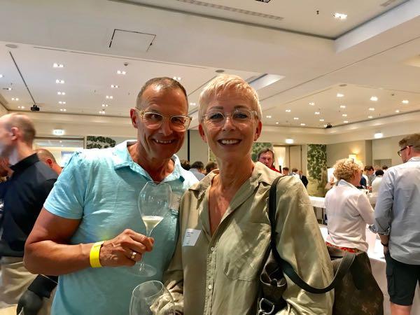 Antje & Marcel von der Weinschirn in Frankfurt gehörten zu den vielen Fachbesuchern